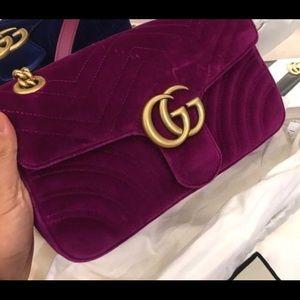 GG Velvet Marmont Medium